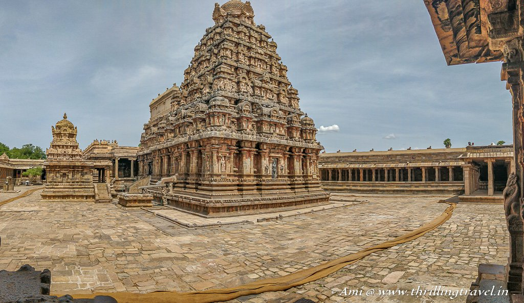 The only surviving temple complex at Airavatesvara - one of the Great Living Chola Temples
