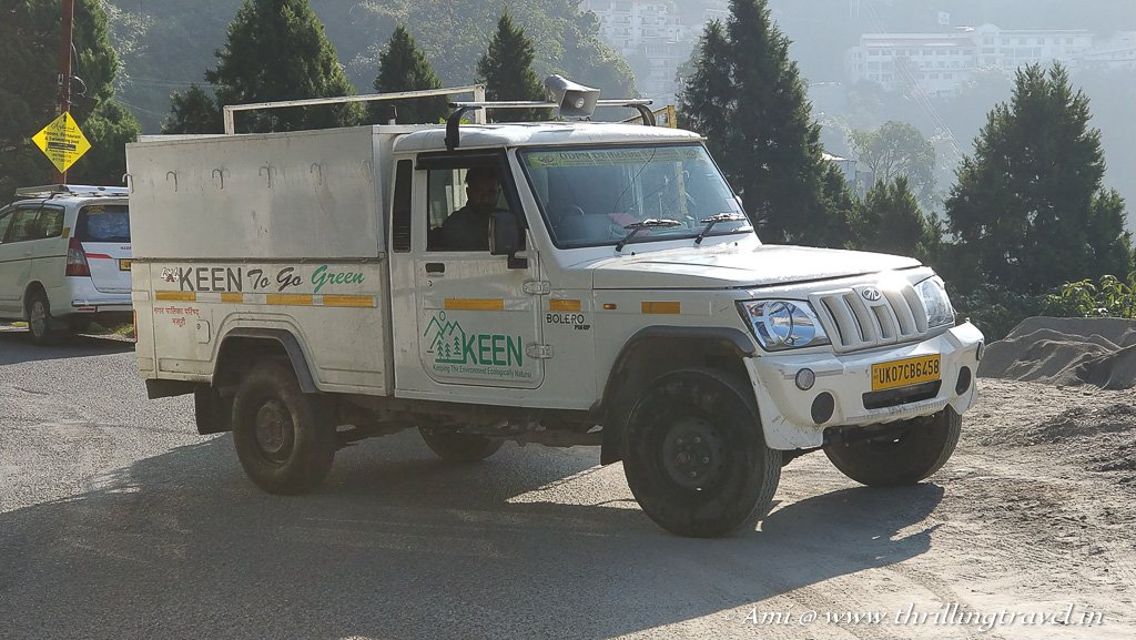 Vehicle and on-ground support provided by the local NGO - KEEN