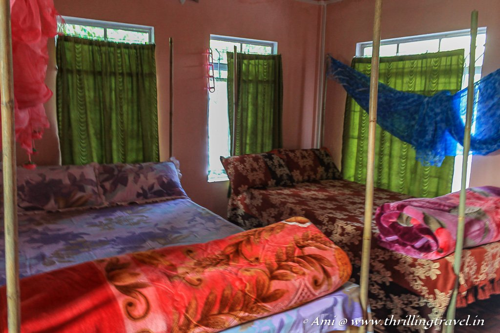 Our comfortable and clean room at Mawlynnong