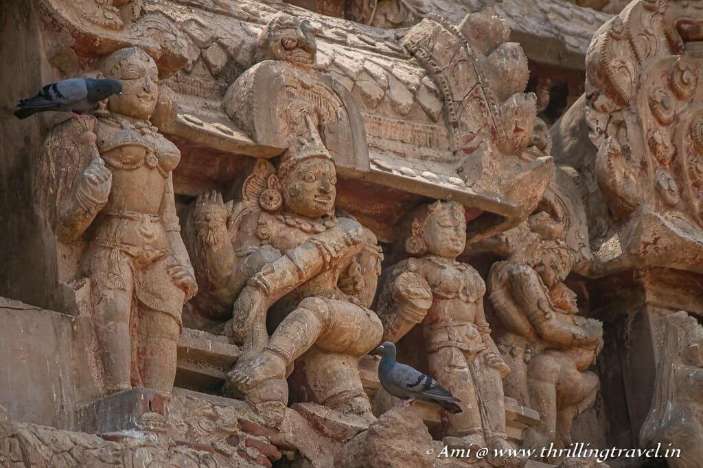Nataraja carving on the Rajagopuram