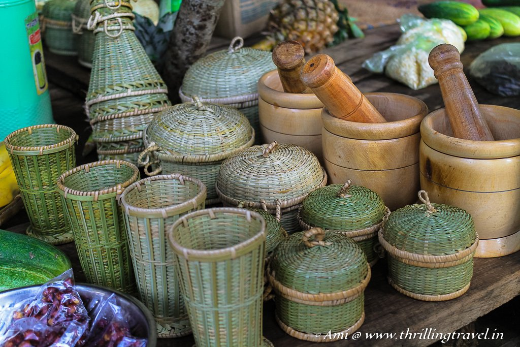 The Bamboo goodies on sale at the Nohwet Village