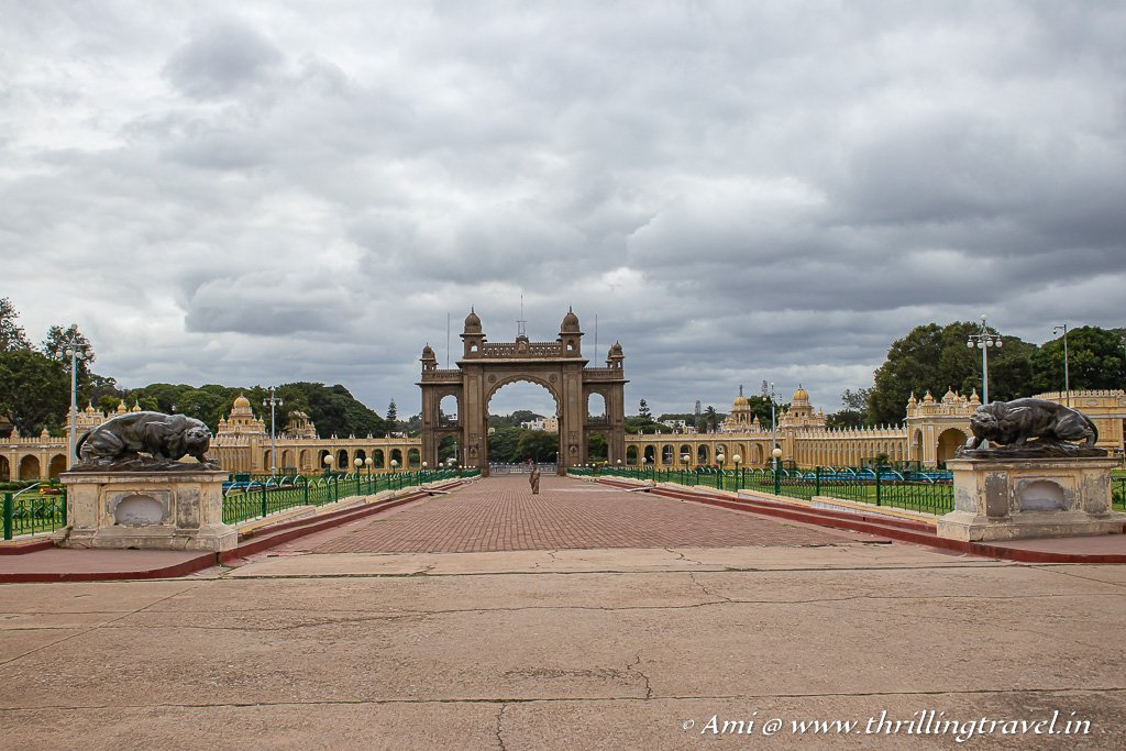 One of the many arches around the Mysore Palace