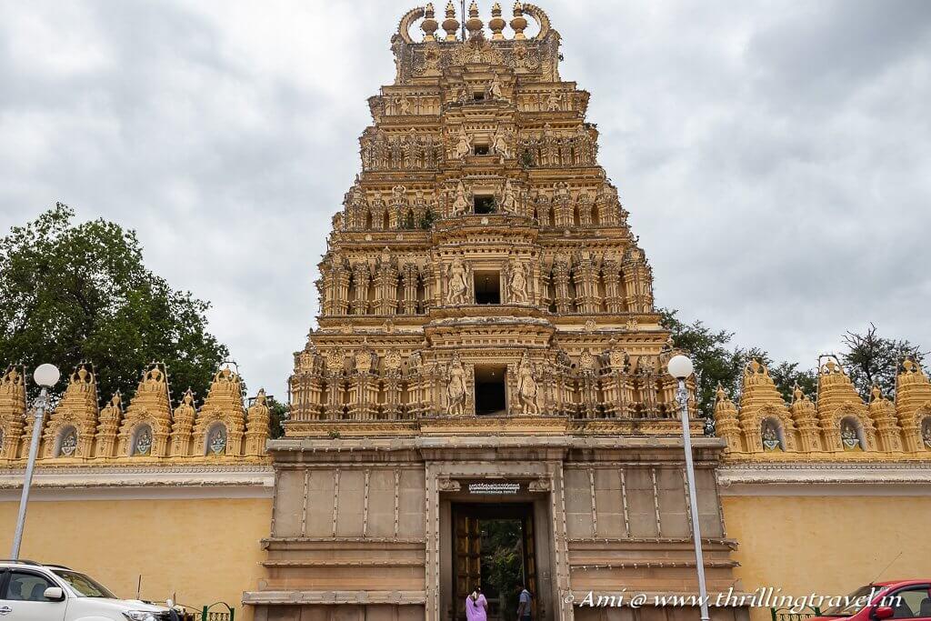 The Bhuvaneshwara Temple at the entrance of Mysore Palace
