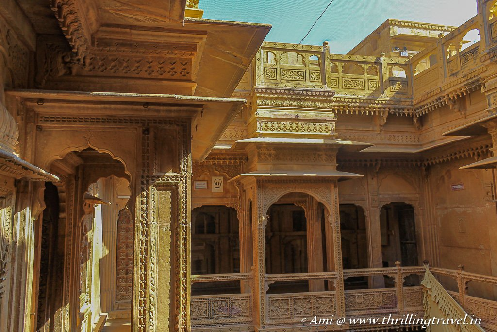 The courtyard style Patwon ki Haveli with its little balconies