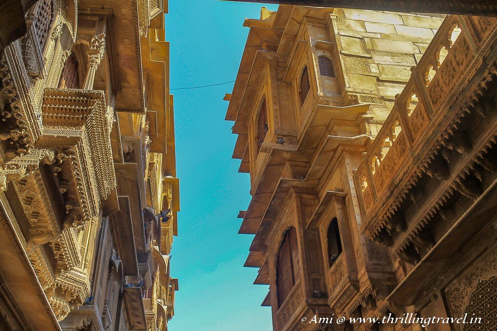 The Golden Haveli of Jaisalmer is actually a cluster of 5 individual homes