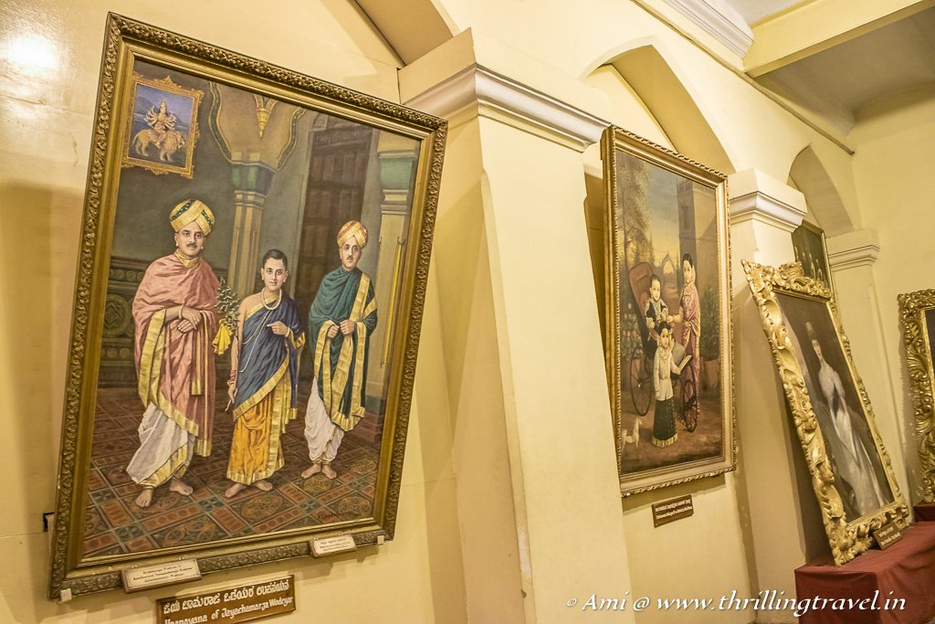 The Portraits Gallery of Mysore Palace