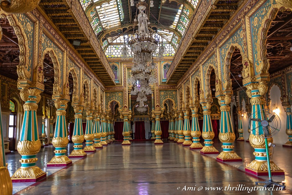 The Private Durbar Hall of Mysore Palace