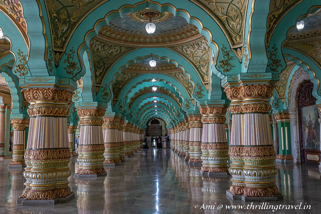 The Public Durbar Hall in Mysore Palace