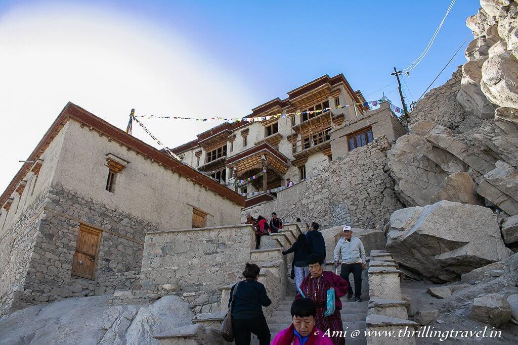Climbing up Shey Monastery Ladakh