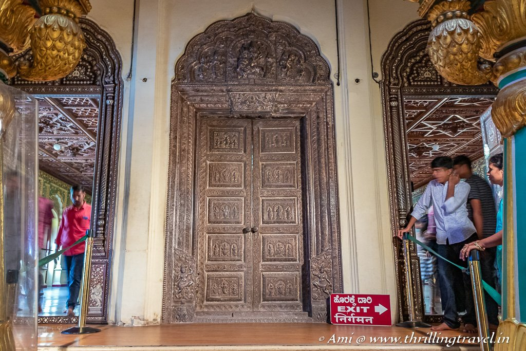 Silver Door to the Private Durbar Hall