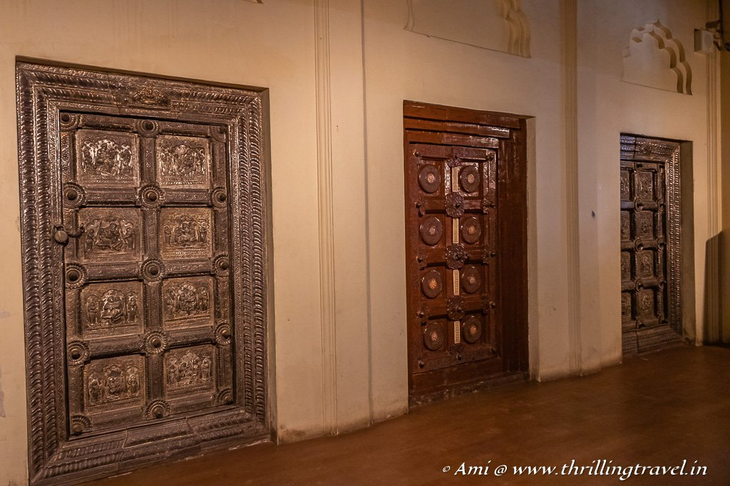 The Hallway of Doors in Mysore palace