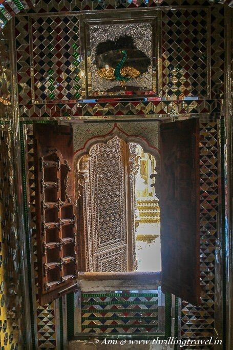 Mirror work on one of the walls of Patwon ki Haveli Jaisalmer