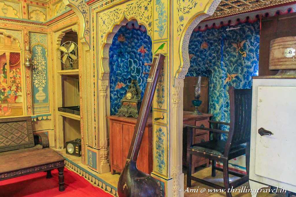 The painted walls of Patwon ki Haveli that host a museum