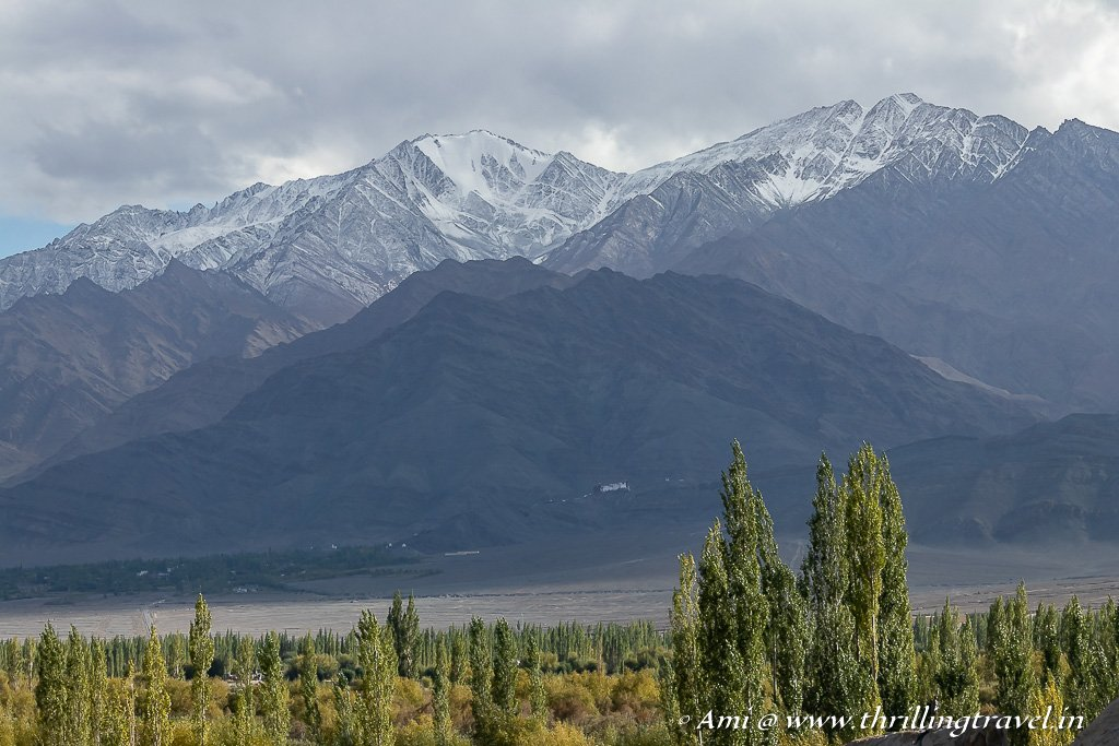 Snowy Peaks as seen from Shey Palace and Monastery