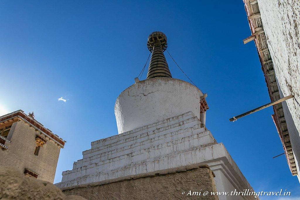 The largest chorten of victory at the Shey Palace