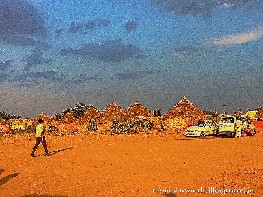 One of the desert camps of Jaisalmer
