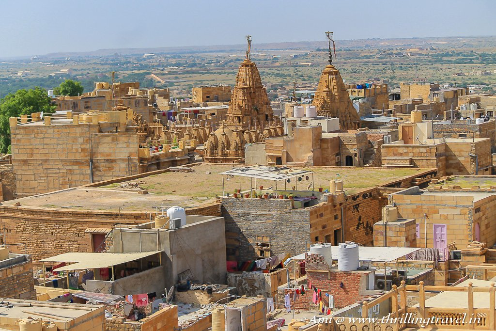 The spires of the Jain Temples - as seen from the roof of Jaisalmer Fort Palace