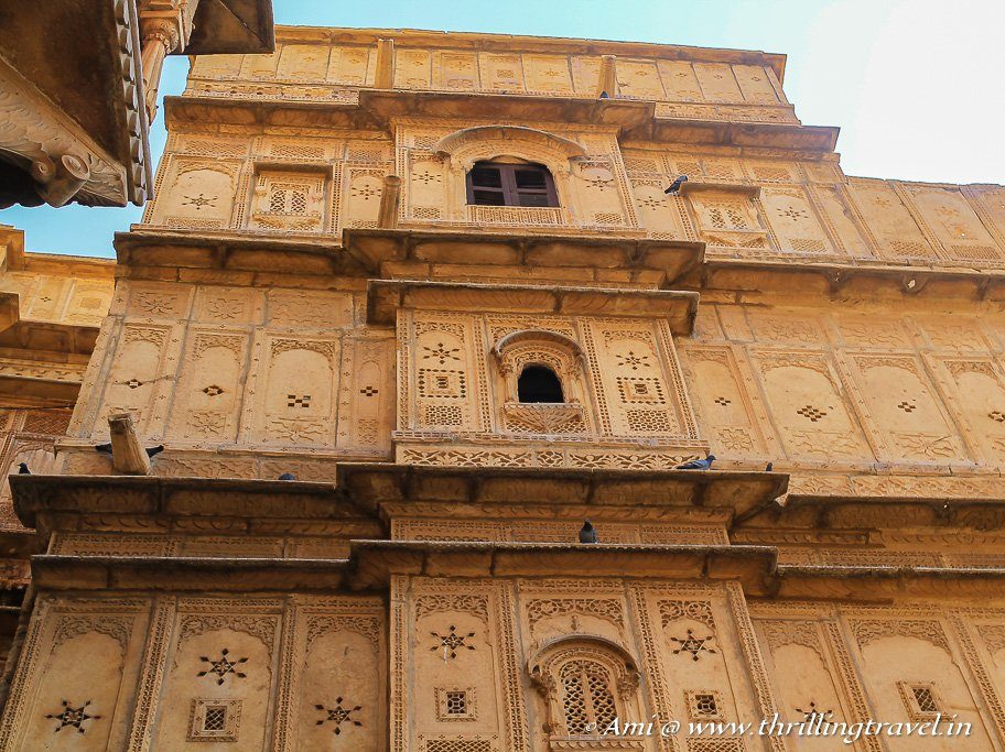 One of the havelis inside the living fort of Jaisalmer