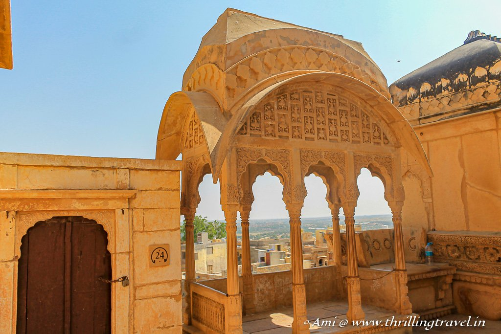 The little pavilion on the terrace of Jaisalmer Fort