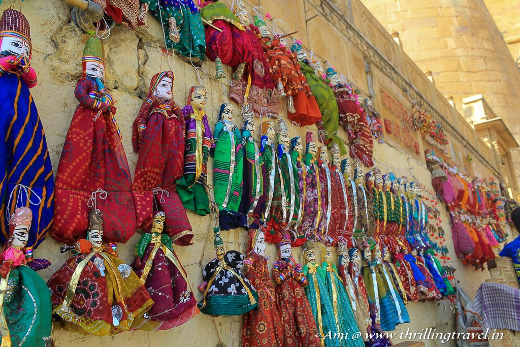 Rajasthani puppets for sale in Jaisalmer Fort