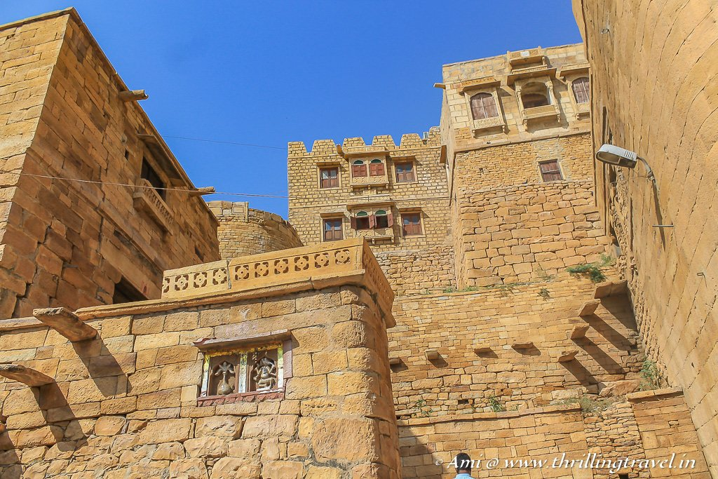 Inside Jaisalmer Fort -notice the olden styled stairs that lead to various homes