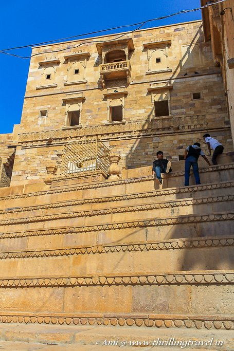 The Maharwal Marble throne in Dusshera Chowk of Jaisalmer Fort