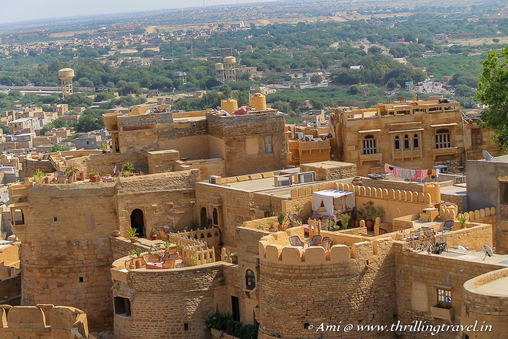 The rooftop cafes of Jaisalmer Fort
