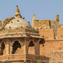 One of the watch towers of the Jaisalmer Fort