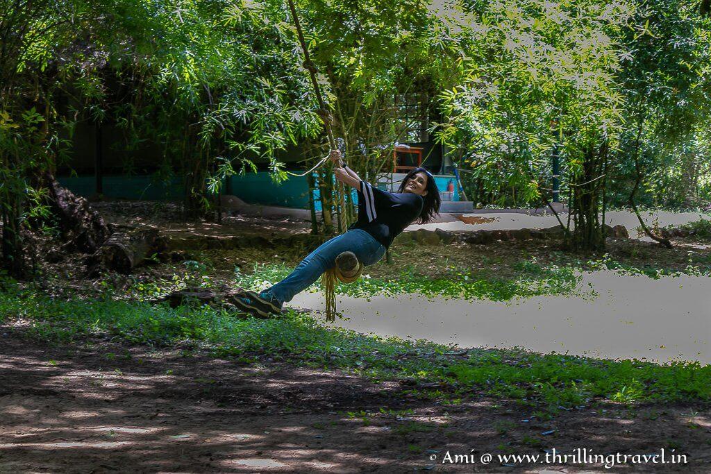 Swinging - the Jane style at Galibore Jungle Resort
