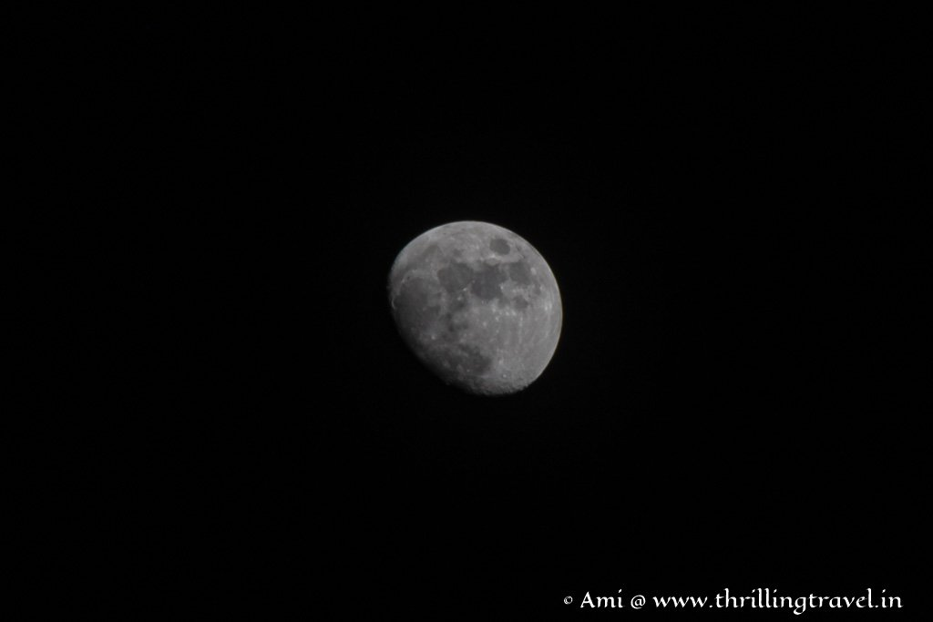 My capture of the moon at Galibore