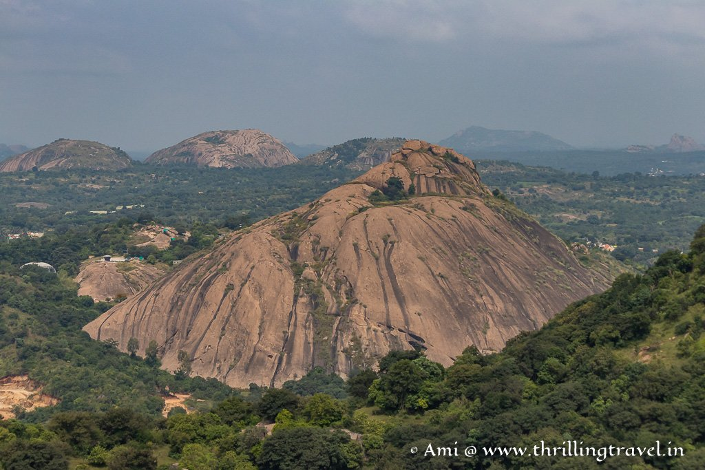 Textures and colors of the Ramanagara Hills
