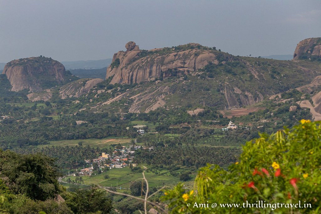 Ramanagara Town - as seen from Ramadevara Betta Hills