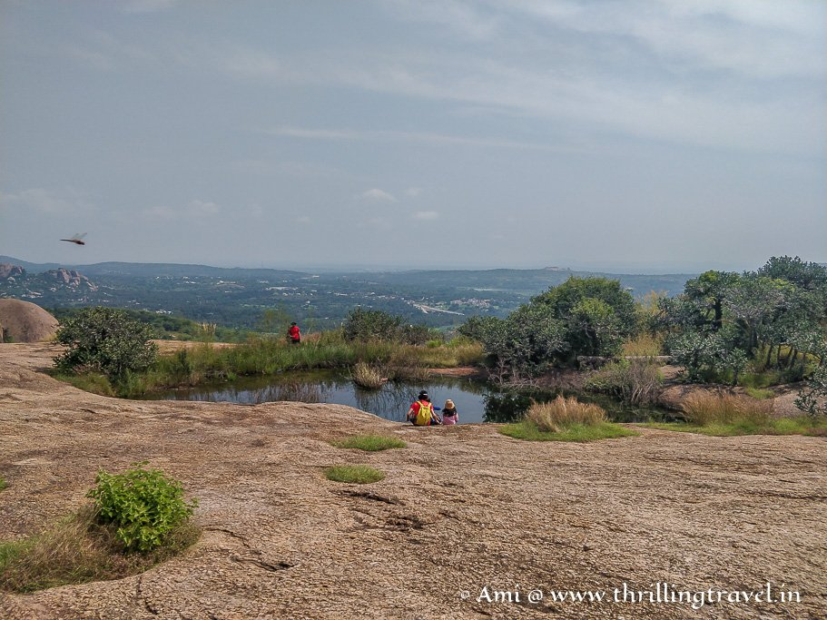 Sita's Pond - on top of the Sholay hills