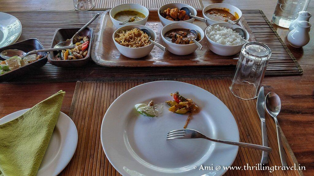 Simple yet delightful meals at Kaav Safari Lodge