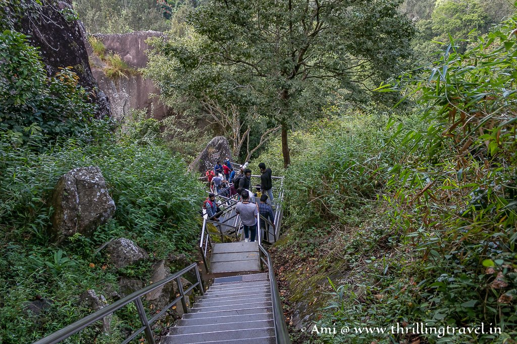 The steep climb that you will encounter as you get closer to Edakkal Caves