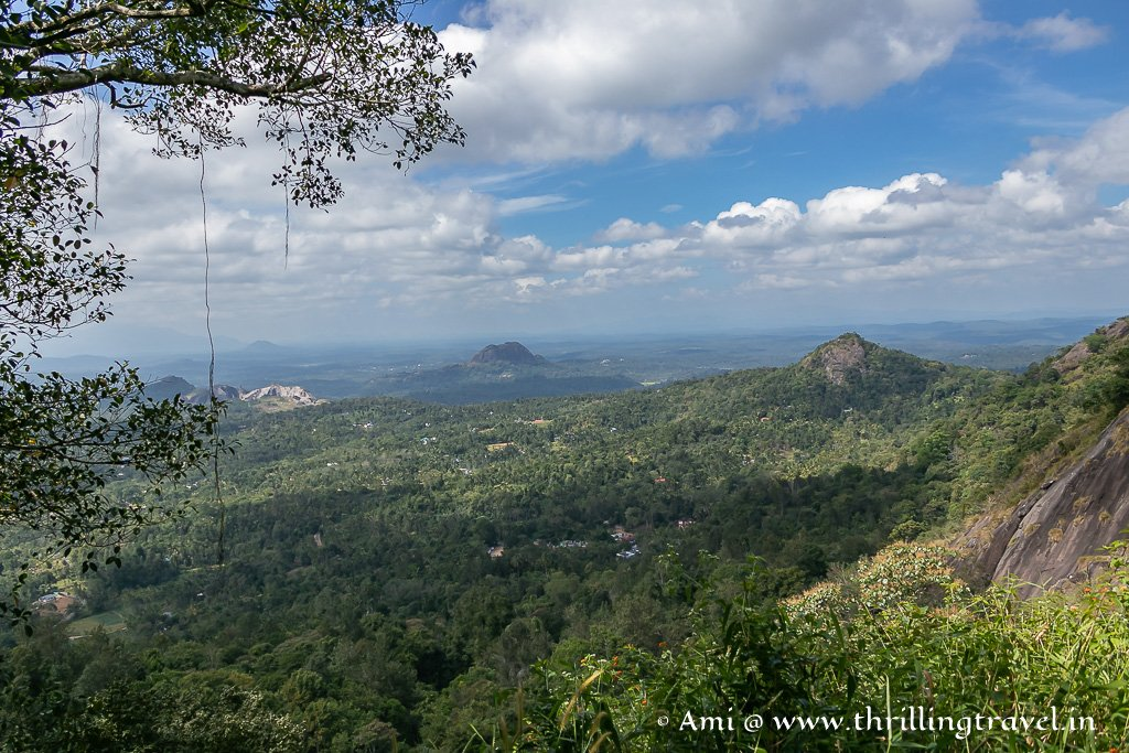 Landscape of Wayanad as seen from one of the landings on the way down from Edakkal Caves