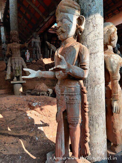 One of the Bhuta idols at the Hasta Shilpa heritage village