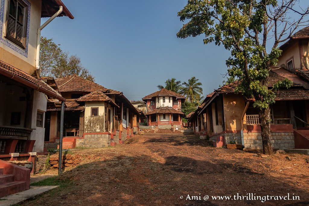 The eastern wing of Hasta Shilpa heritage village in Manipal