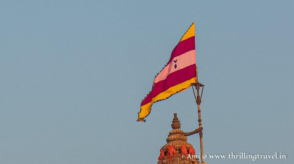 The Flag of Shree Dwarkadhish Mandir