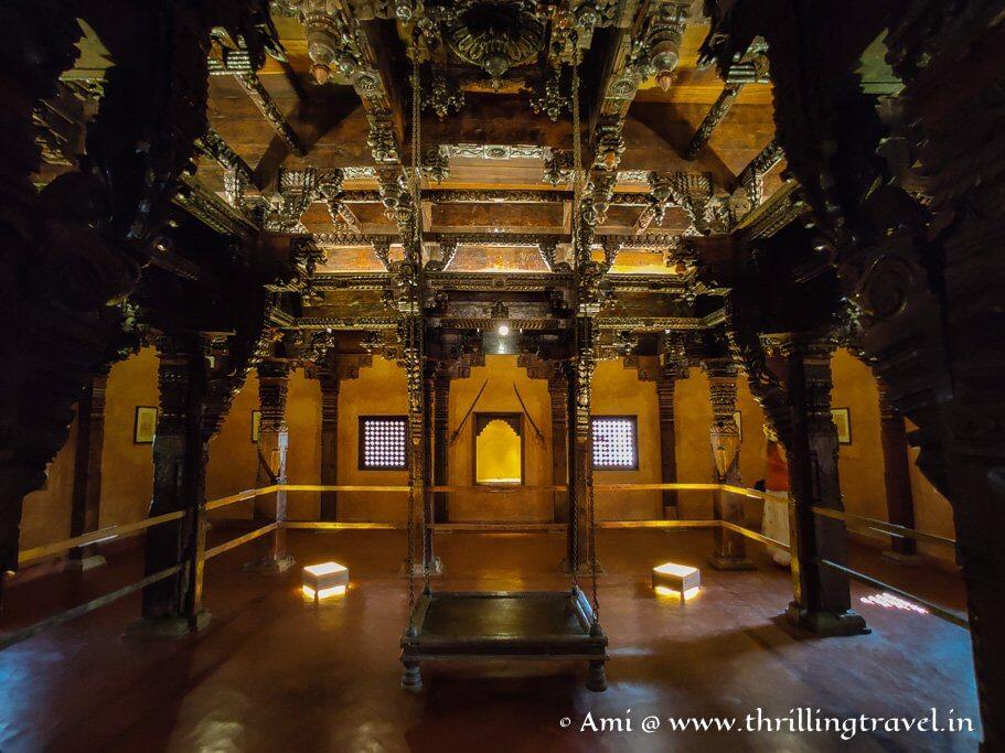 The private chamber of a Vijanagara chief in the Kamal Mahal of Kukanoor