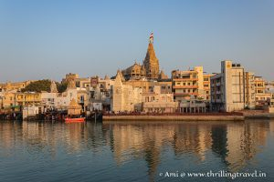 Shree Dwarkadhish temple along the Gomti River Ghats