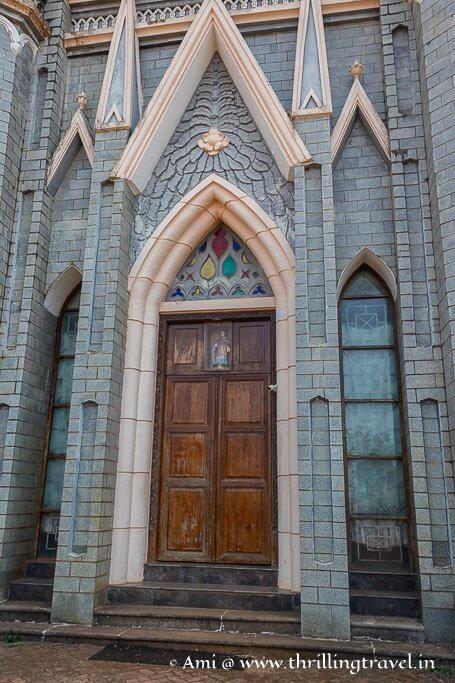 One of the many doors of Karkala Church
