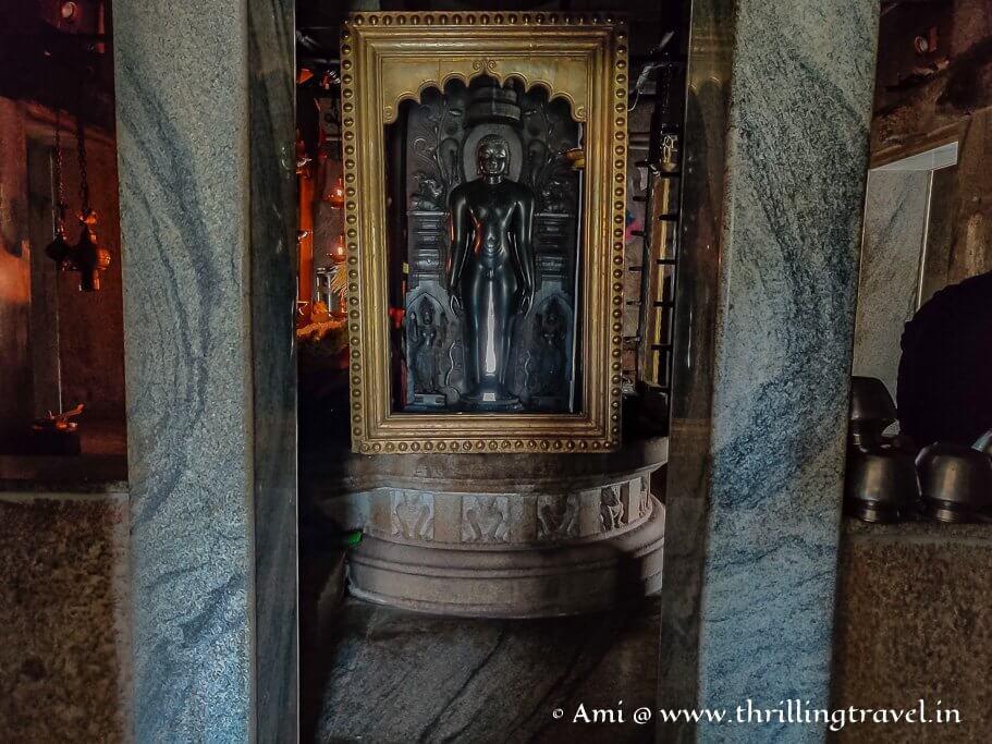 One of the idols - Ananthanath at the Kere Basadi in Varanga