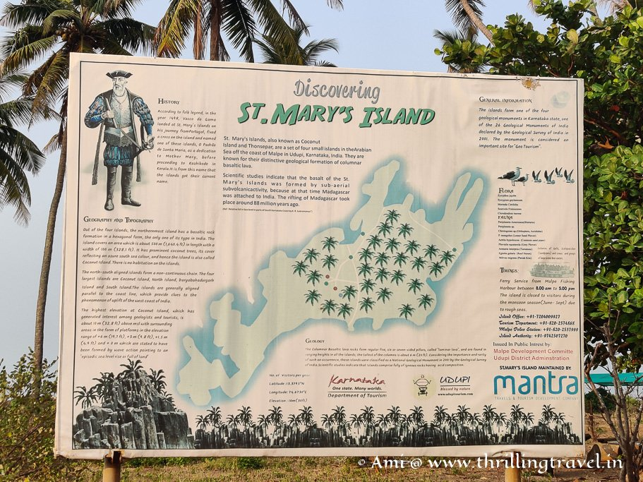 The map of St Mary's Island India