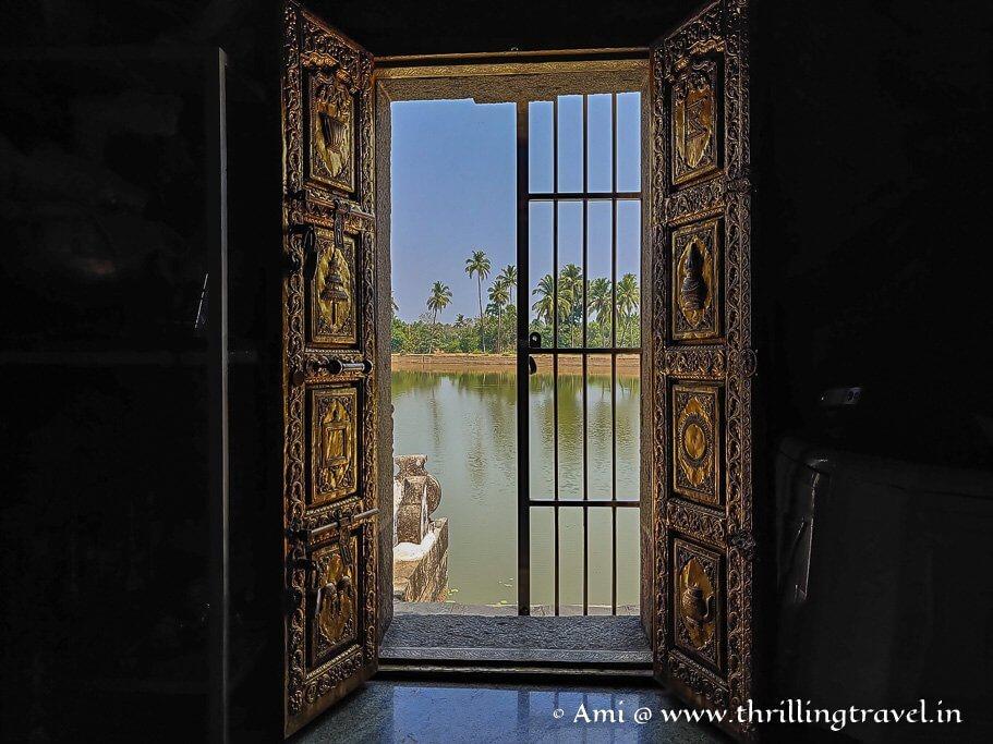 One of the doors of Varanga Jain Temple in Karnataka