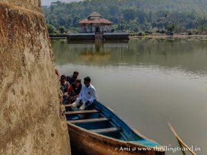 Boat to Varanga Jain Temple