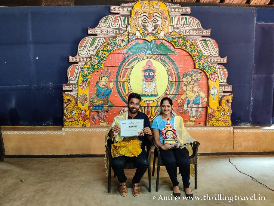 Anudeep and Minusha - the couple honored by India Tourism for their beach cleaning drive in Byndoor