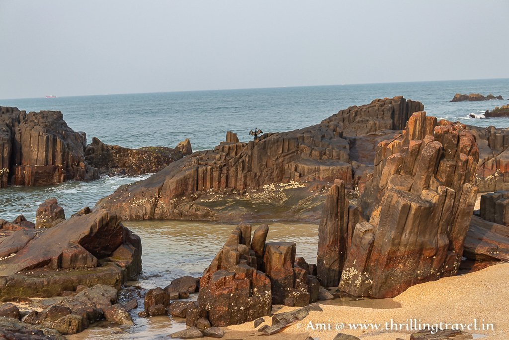 Rock icicles - that is what these ones looked like at St. Mary's island Udupi