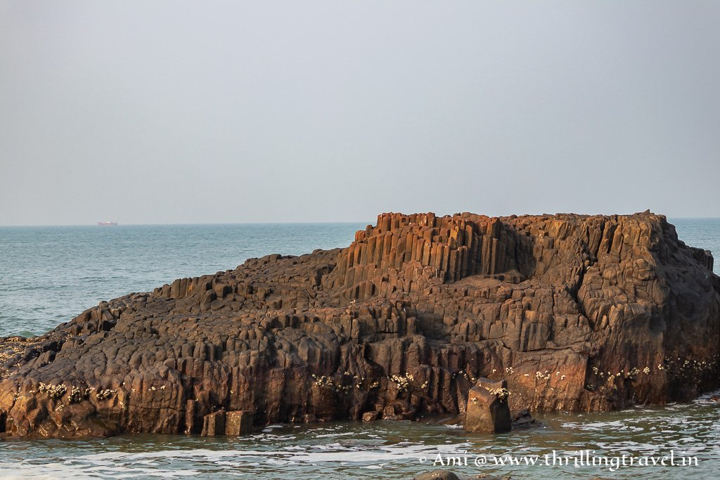 The Basalt columns at St Mary's Island Udupi