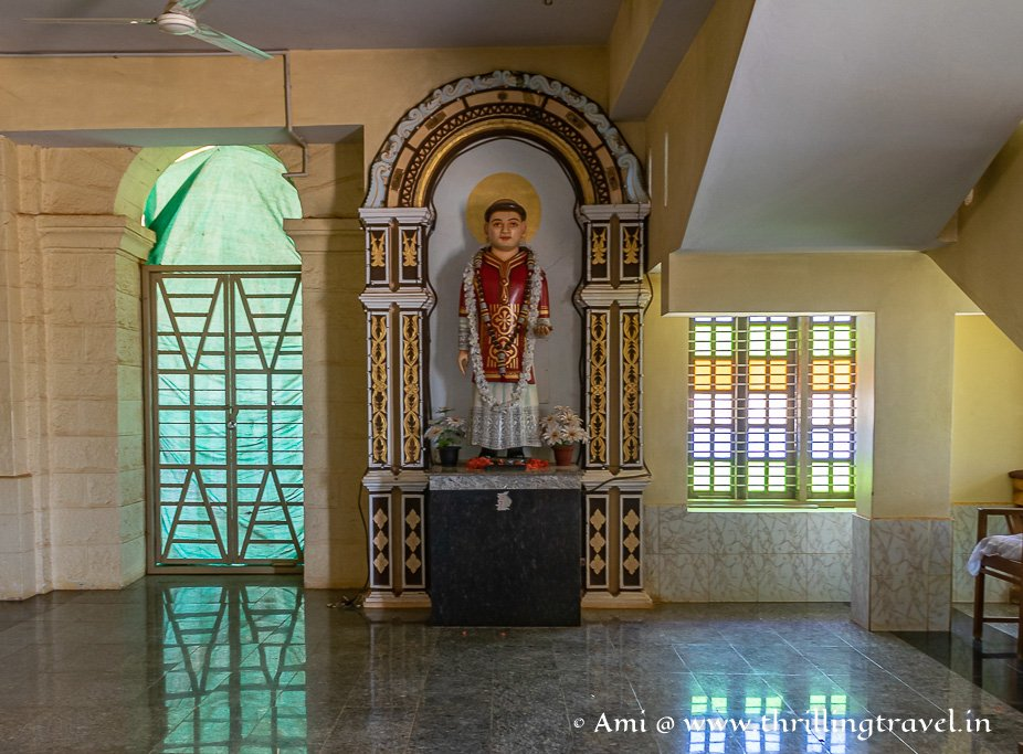 Saint Lawrence statue kept in the new Attur Church